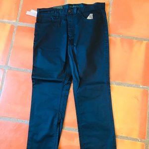 PERRY ELLIS MEN NAVY BLUE SLIME PANTS
